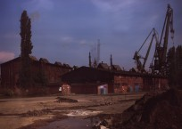 Roland Wirtz, Kairos: Gdańsk Shipyard – 08/08/2013, direct exposure, Cibachrome, 1.27 × 2.20 m, 2013, photograph courtesy of the artist