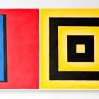Piotr Lutyński, untitled, 2003, acryl / canvas, 90 × 210 × 9 cm